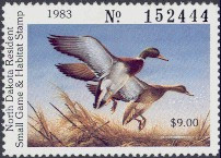 North Dakota Duck Stamp 1983 Mallards