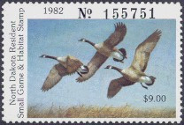 North Dakota Duck Stamp 1982 Canada Geese