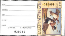 New Mexico Duck Stamp 1992 American Wigeon Hunter type