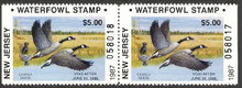 New Jersey Duck Stamp 1987 Canada Geese Non Resident Booklet Pair