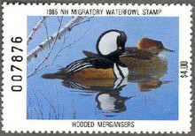 New Hampshire Duck Stamp 1986 Mergansers