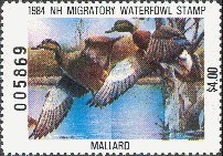 New Hampshire Duck Stamp 1984 Mallards
