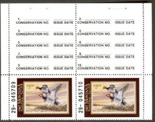 Montana Duck Stamp 1987 Redheads Hunter type top pair with selvage on both sides