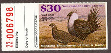 Montana Duck Stamp 1978 Sage Grouse 30.00 Non Resident