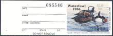 Missouri Duck Stamp 1986 Hooded Mergansers with full tab
