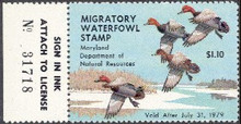 Maryland Duck Stamp 1978 Redheads