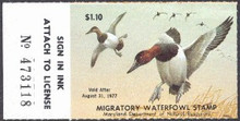 Maryland Duck Stamp 1976 Canvasbacks