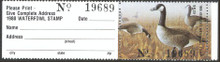 Kentucky Duck Stamp 1988 Canada Geese with full tab