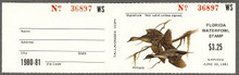 Florida Duck Stamp 1980 Pintails with full tab