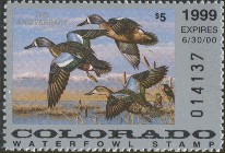 Colorado Duck Stamp 1999 Blue - Winged Teal