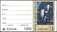 Colorado Duck Stamp 1995 Buffleheads Hunter with tab