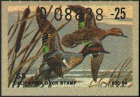 California Duck Stamp 1983 Green - Winged Teal