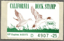 California Duck Stamp 1971 Pintails