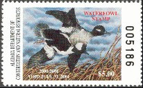 Alabama Duck Stamp 2000 Buffleheads