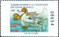 Alabama Duck Stamp 1987 Pintails