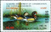 Alabama Duck Stamp 1985 Wood Ducks