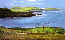 Cypress Point - 16th Hole by Peter Ellenshaw