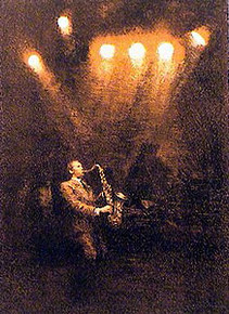 The Soloist - Stone Lithograph by Arthur Shilstone
