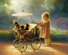 I Love New Yorkies - canvas by Greg Olsen