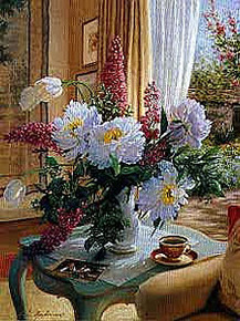 Tea at Marguerites - Giclee Edition by Robin Anderson