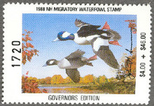 New Hampshire Duck Stamp 1988 Governor Edition