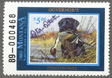 Montana Duck Stamp 1989 Governor Edition Hand Signed