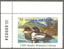 Alaska Duck Stamp 1989 Governor Edition