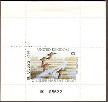 United Kingdom Duck Stamp 1992 European Green - Winged Teal Booklet type