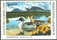 Iceland Duck Stamp 1994 Pintails