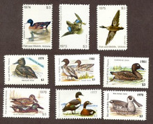 Australia Duck Stamp 1973 1981 Complete Set