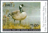 National Fish and Wildlife Duck Stamp 1987 Canada Goose
