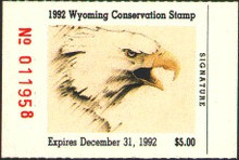Wyoming Duck Stamp 1992 Bald Eagle