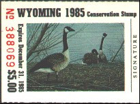 Wyoming Duck Stamp 1985 Canada Geese