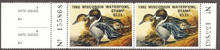 Wisconsin Duck Stamp 1982 Pintails Pair with full tab