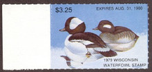 Wisconsin Duck Stamp 1979 Buffleheads with tab