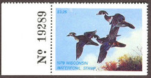 Wisconsin Duck Stamp 1978 Wood Ducks with Plate #