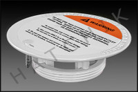 N1116G SWIMQUIP 08417-0005E FLOOR GENERIC INLET PLATE COLOR: WHITE W/SCREW