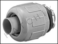 O1162 KAF-FLEX LIQUID TIGHT 1/2 STRAIGHT CONNECTOR