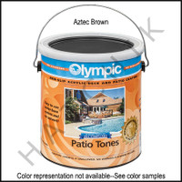 Q3022 PAINT-1 GAL CAN PATIO TONES KELLY #468W COLOR:AZTEC BROWN