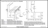 T1598 CANTILEVER DECK FORMS FOR AUTO POOL COVER 104'