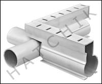 T1725 QUAKER DECK DRAIN CROSS WHITE COLOR: WHITE