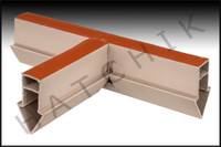 T1763 QUAKER EXPANSION JOINT TEE TAN COLOR: TAN