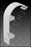 T1775 QUAKER QP-2041W FRENCH CURVE WHITE NOSE CAP - WHITE (100/CASE)