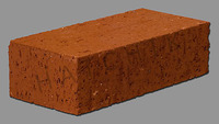 "T7004 BRICK PAVER - STD - SUNSET RED 3-1/2"" X 2-3/16"" X 7-1/2"