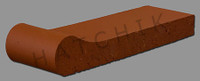 T7010 BRICK COPING - SAFETY GRIP SUNSET RED 3-5/8X1-1/4X12-1/2