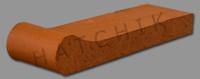 T7066 BRICK COPING - SAFETY GRIP ROSE TAN 3-5/8X1-1/4X12-1/2