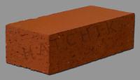 """T7067 BRICK PAVER-DIESKIN-SUNSET RED 3-1/2"""" X 2-3/16"""" X 7-1/2"""
