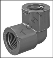 """U6405 ELBOW (90) SCHED 80 F X F 1/2"""" FPT X FPT 808-005"""