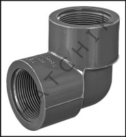 """U6415 ELBOW (90) SCHED 80 F X F 1-1/2"""" FPT X FPT  808-015"""