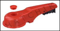 """V1463 ASAHI 6"""" PLAS. REPL.HANDLE FOR PVC WAFER VALVE OLD STYLE(RED)"""